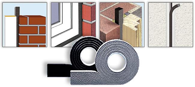 kompriband quelldichtband zum abdichten von fugen dollex. Black Bedroom Furniture Sets. Home Design Ideas