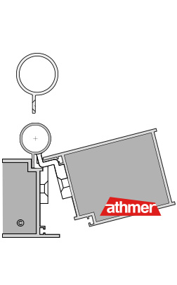 BO - Querschnitt - Klemmschut Bandseite für flächenbündige Türen
