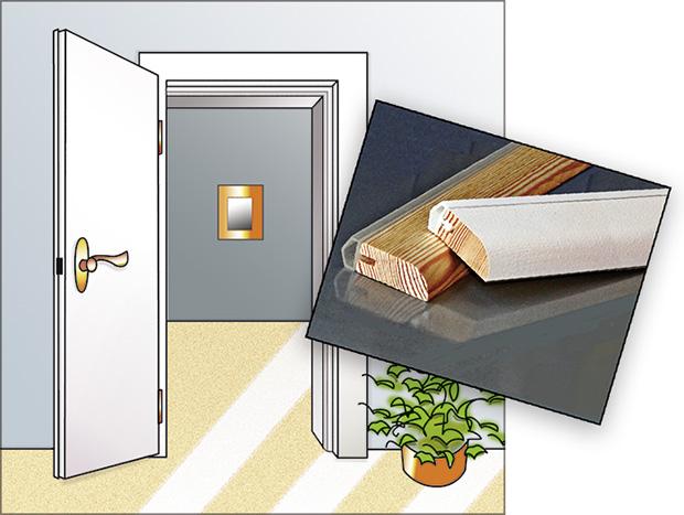 Altbautüren abdichten, Abdichtungsleisten aus Holz | Dollex.