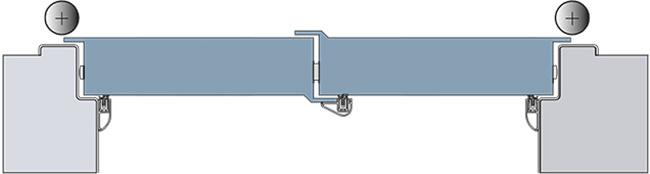 Grafik Abdichtung Flügeltür mit Nadi LM und FM