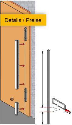 BD -Bandseite Montage an stumpfer Tür - Preise